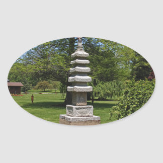 1 Joe and Marie Schedel Pagoda- vertical.JPG Oval Sticker