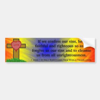 1 John 1:9 Holy Scriptures New World Translation Bumper Stickers