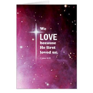 1 John 4:19 Card