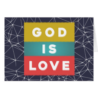 1 John 4:8 - God Is Love Card