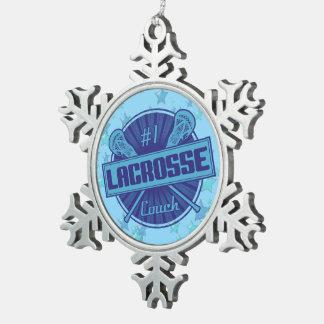 #1 Lacrosse Coach Christmas Tree Ornament