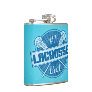 #1 Lacrosse Dad Stainless Steel Hip Flask