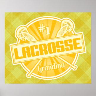 #1 Lacrosse Grandma Artwork Poster