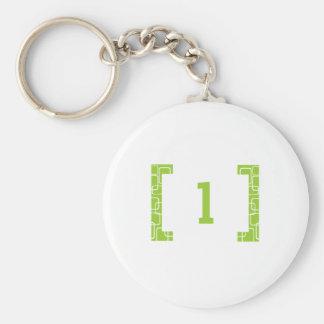 #1 Lime Green Key Ring