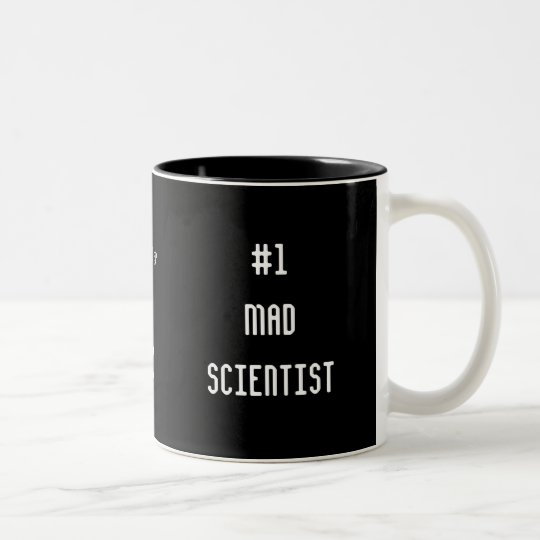 #1 Mad Scientist Two-Tone Coffee Mug