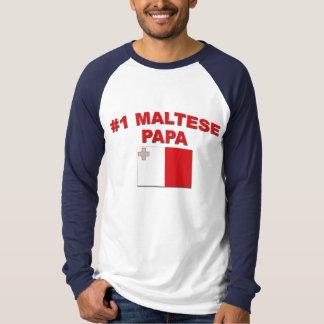 #1 Maltese Papa T-Shirt