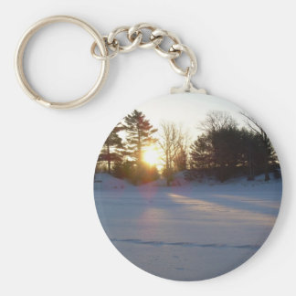 1 March 2010 Basic Round Button Key Ring