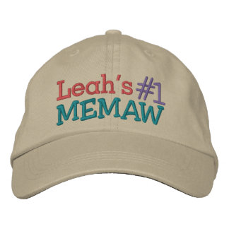 #1 Memaw ... ; ) Embroidered Hat