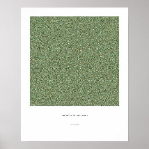 1 Million Decimals of π Poster