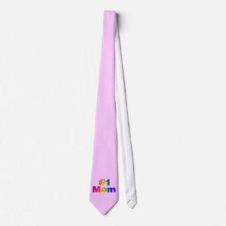 #1 Mom 3D Rainbow Graphic Tie