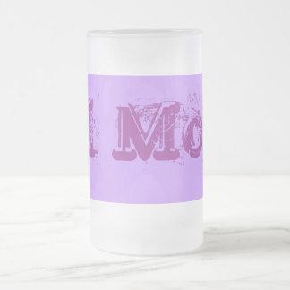 #1 Mom frosted mug