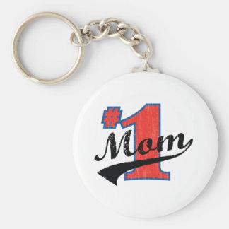 #1 Mom Key Ring