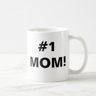 #1 MOM! BASIC WHITE MUG