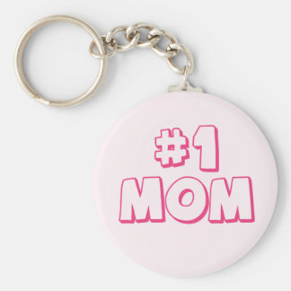 #1 Mom Number One Mom Keychain