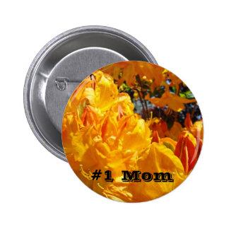 1 Mom Orange Rhodies Flowers custom Buttons