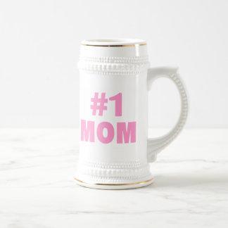 #1 Mom (Pink) Beer Stein