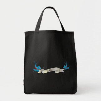 #1 Mom Tattoo Swallow Bird and Banner Bag