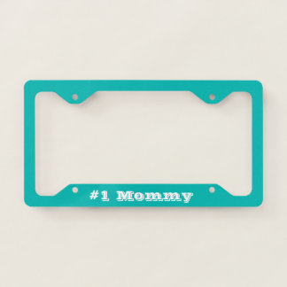 #1 Mommy | Tiffany Blue Theme Licence Plate Frame