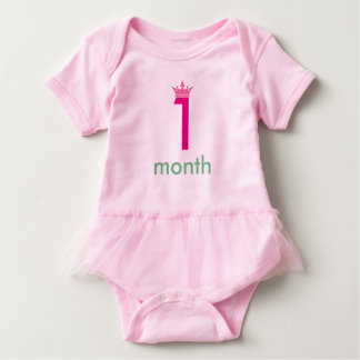 1 month baby girl body suit (add your baby name) baby bodysuit