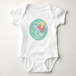1 Month Milestone Baby Girl Baby Bodysuit