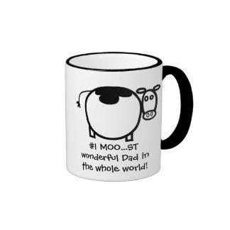1 Moo st Wonderful Father Coffee Mugs
