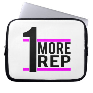 1 More Rep in Pink Laptop Sleeve