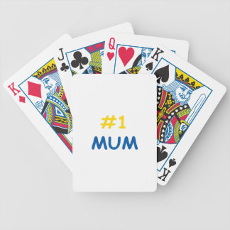 #1 mum best mother bicycle playing cards