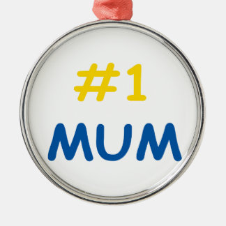#1 mum best mother christmas ornament