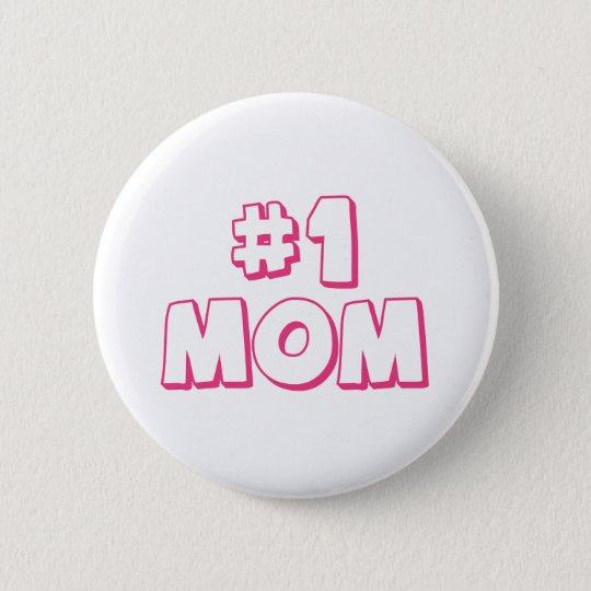 #1 Mum Number One Mum Tote bag 6 Cm Round Badge