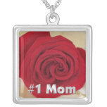 #1 Mum Red Rose Necklace