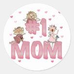 #1 Mum T-shirts and Gifts Round Sticker