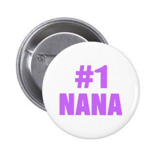 #1 Nana (Purple) 6 Cm Round Badge