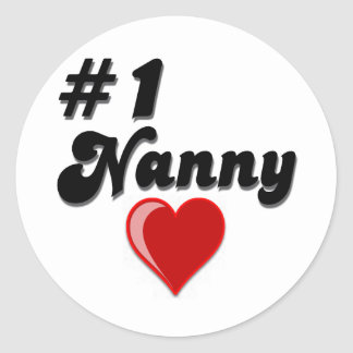 #1 Nanny - Celebrate Grandparent's Day Stickers