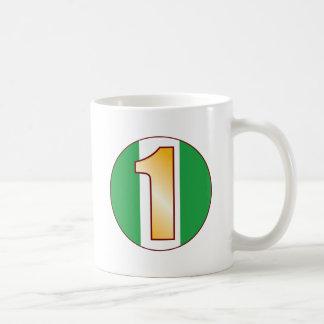 1 NIGERIA Gold Coffee Mug