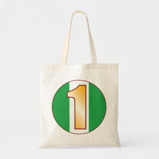 1 NIGERIA Gold Tote Bag