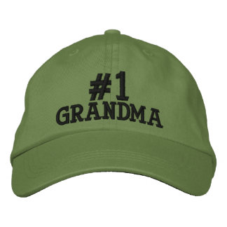 #1 Number One Grandma Embroidered Cap