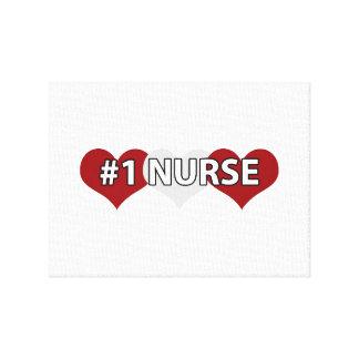 #1 Nurse Canvas Prints