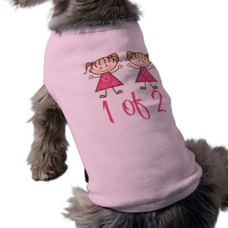 1 Of 2 Pink Girls Sleeveless Dog Shirt