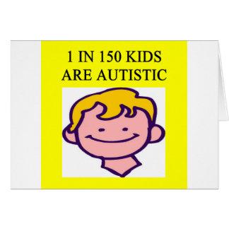 1 on 150 kids is autistics greeting card