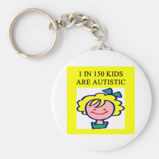 1 on 150 kids is autistics basic round button key ring