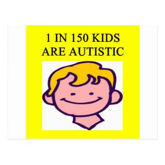 1 on 150 kids is autistics post cards