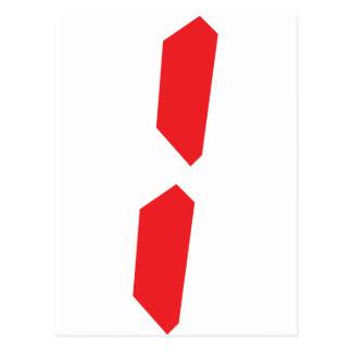 1 one red alarm clock digital postcard