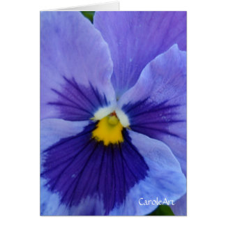 1 Pansy Blue Beauty Stationery Note Card