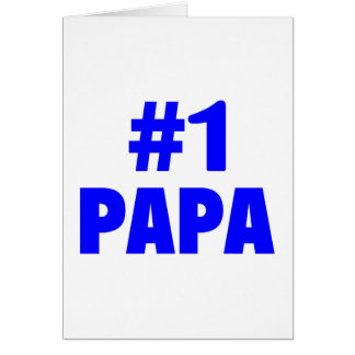 #1 Papa (Blue) Card