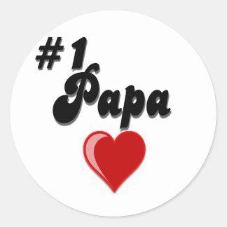 #1 Papa - Celebrate Grandparent's Day Round Sticker