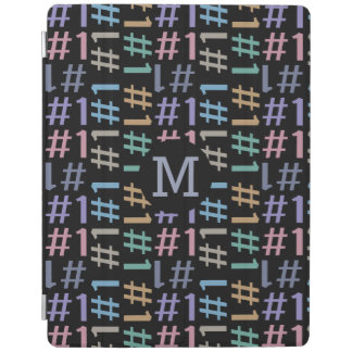 """# 1"" Pattern custom monogram device covers iPad Cover"