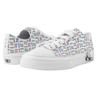 """# 1"" Pattern custom monogram low top shoes Printed Shoes"