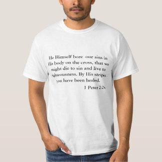1 Peter 2:24 ScriptureT-Shirt T-Shirt