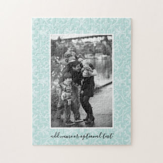 1 Photo with Farmhouse Tile Pattern and Text Jigsaw Puzzle