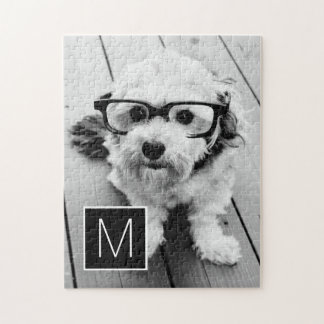 1 Photo with Monogram Jigsaw Puzzle